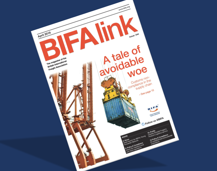 BIFAlink April article promotes UK & UAE Product Logistics